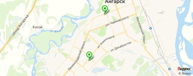 детские больницы на карте Ангарска