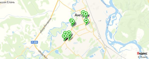 спорты-бары на карте Ангарска
