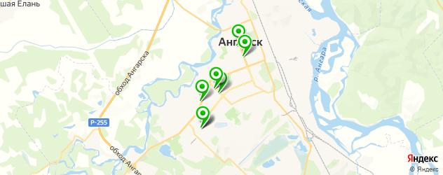 женские фитнес-клубы на карте Ангарска