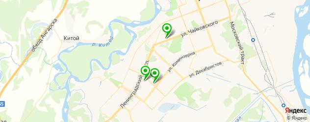 НИИ на карте Ангарска
