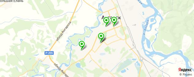 детские поликлиники на карте Ангарска