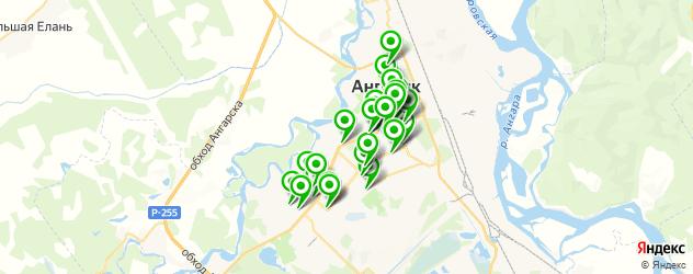 сервисные центры на карте Ангарска