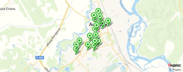 медицинские центры на карте Ангарска