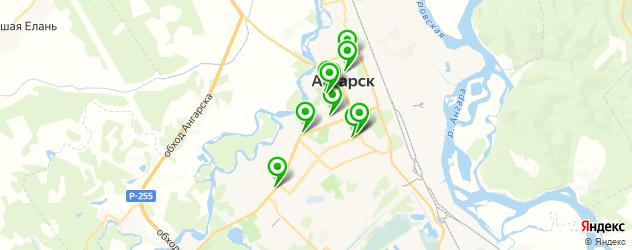 колледжи на карте Ангарска