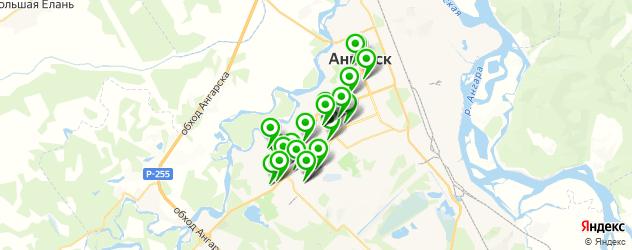 тренажерные залы на карте Ангарска