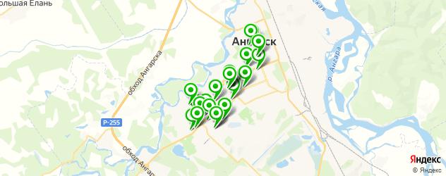 фитнес-клубы на карте Ангарска