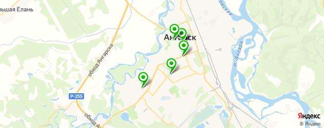 прачечные на карте Ангарска