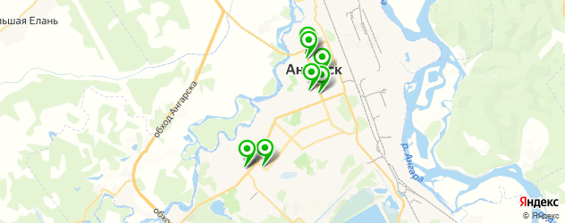вегетарианские кафе на карте Ангарска