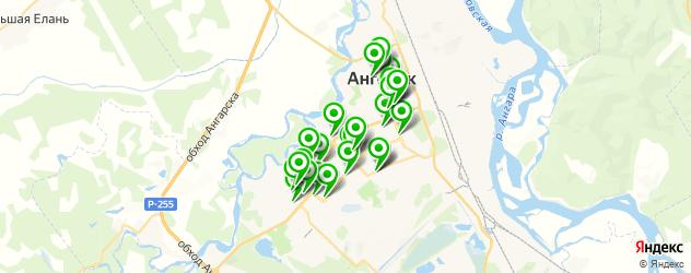 студии маникюра на карте Ангарска