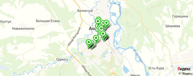 магазины запчастей на карте Ангарска