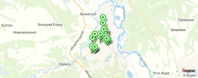 магазины шин и дисков на карте Ангарска