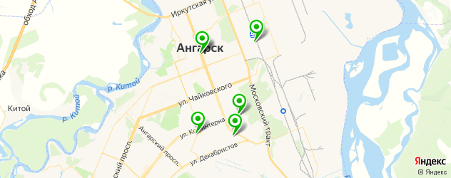 установка ГБО на карте Ангарска