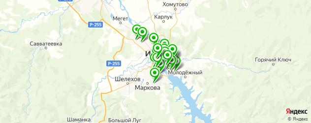 изготовления ключей на карте Иркутска