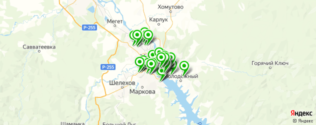 прачечные на карте Иркутска
