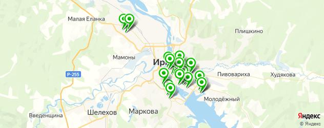 пирсинг ушей на карте Иркутска