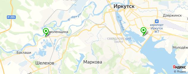 гольф-клубы на карте Иркутска