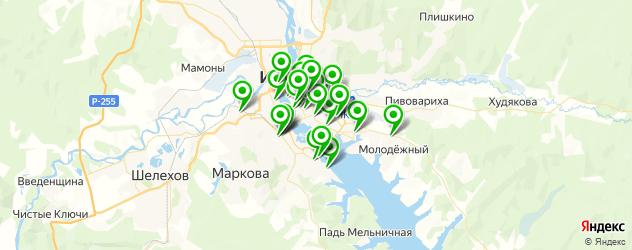 ночные клубы на карте Иркутска