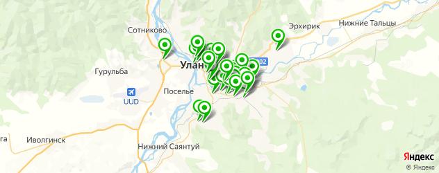автостоянки на карте Улан-Удэ