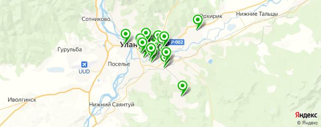 магазины автозвука на карте Улан-Удэ