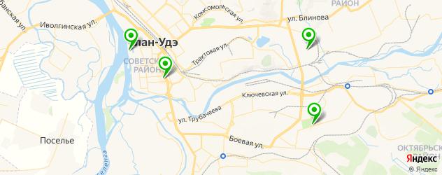кинотеатры на карте Улан-Удэ