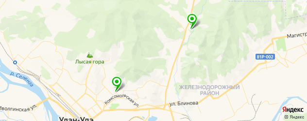 санатории на карте Улан-Удэ