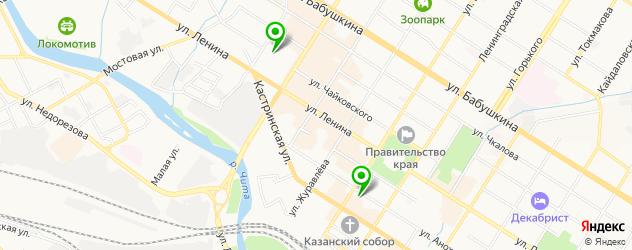 санатории на карте Читы