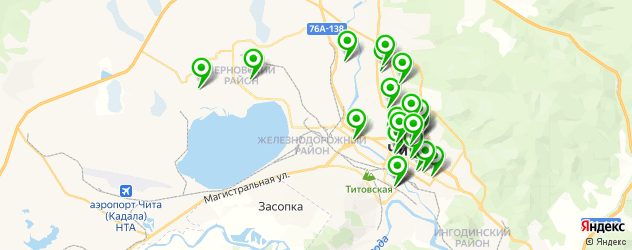 салоны оптики на карте Читы
