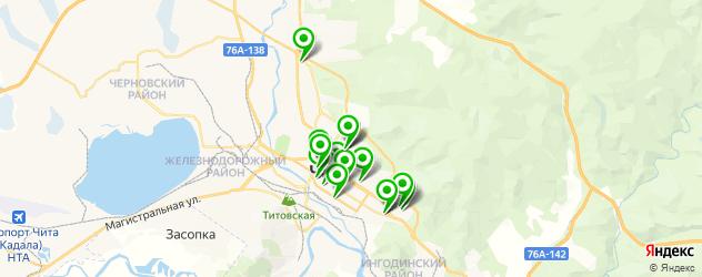 бары с танцполом на карте Читы