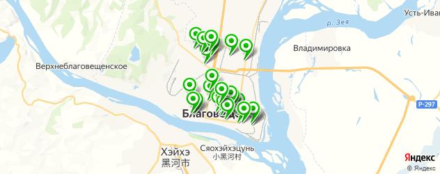 обувные мастерские на карте Благовещенска