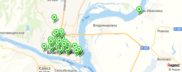 медицинские центры на карте Благовещенска