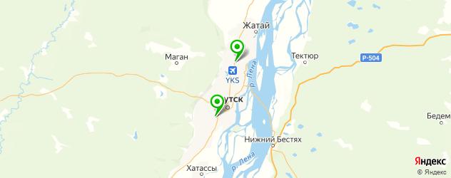 конные клубы на карте Якутска