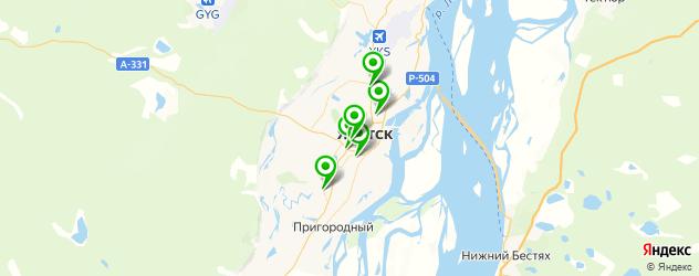 боулинги на карте Якутска