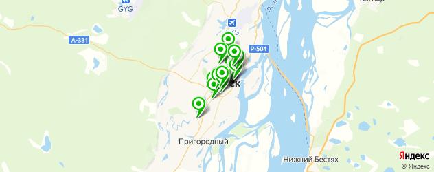 японские рестораны на карте Якутска