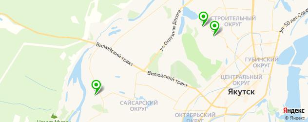 санатории на карте Якутска