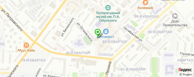 детские поликлиники на карте Якутска