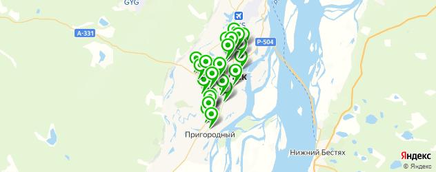 магазины автоаксессуаров на карте Якутска