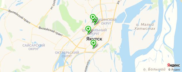 гимназии на карте Якутска