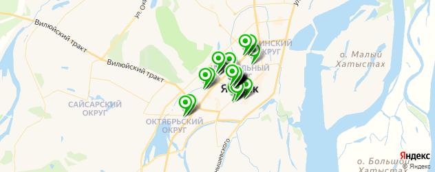 банкоматы на карте Якутска