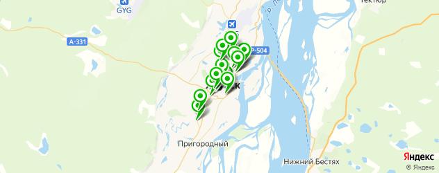 караоке-клубы на карте Якутска