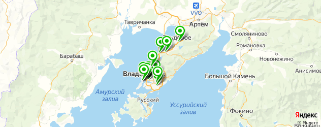 вегетарианские рестораны на карте Владивостока