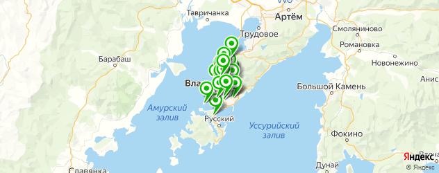 Авто на карте Владивостока