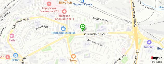 горнолыжные склоны на карте Владивостока