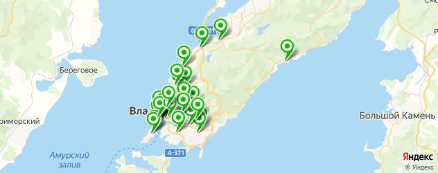 рестораны с танцполом на карте Владивостока