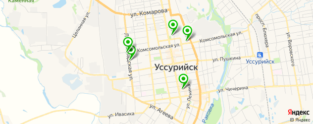 школы танцев на карте Уссурийска