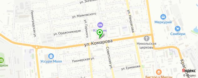 травмпункты на карте Уссурийска