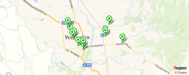 пиццерии на карте Уссурийска