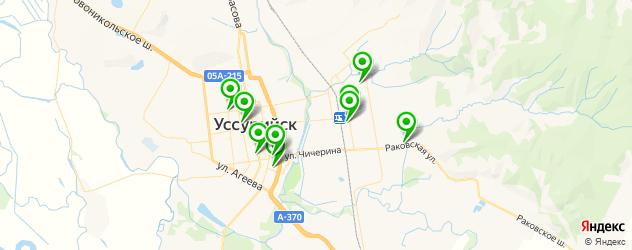 Доставка пиццы на карте Уссурийска