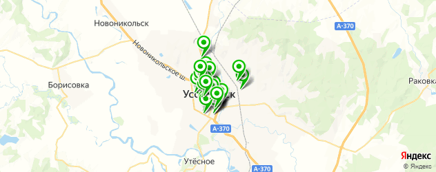 компьютерные помощи на карте Уссурийска