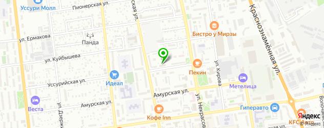 спортивные мастерские на карте Уссурийска