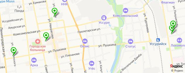 гимназии на карте Уссурийска
